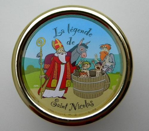 Boite ronde à clé St Nicolas