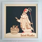 Cadre décoratif Saint Nicolas sous verre