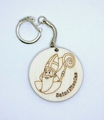 Porté clé Saint Nicolas en bois